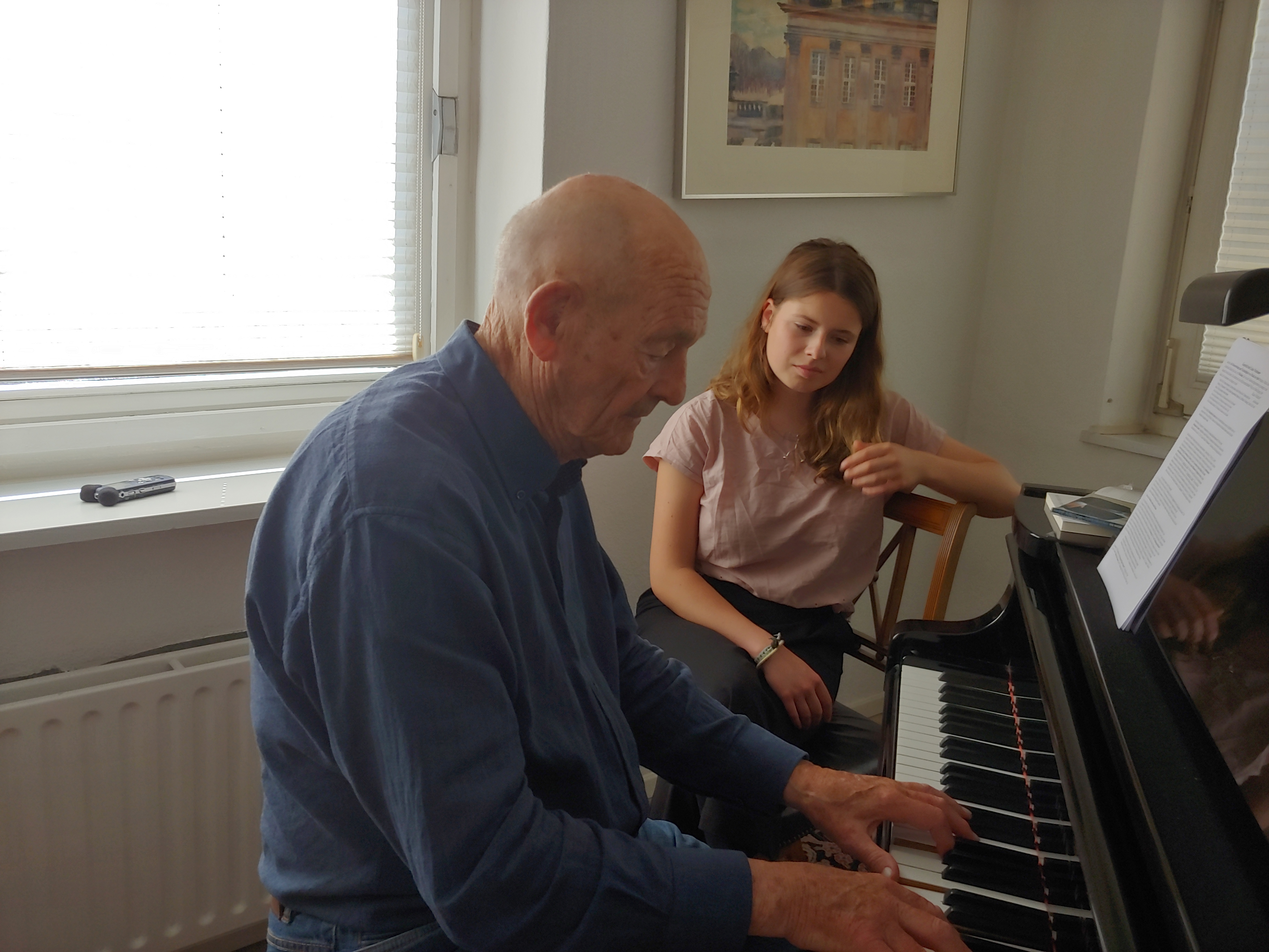 Klaus Wüsthoff mit Luisa Neubauer