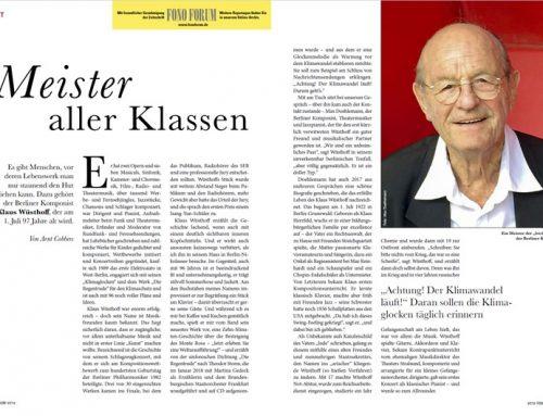 Interview mit Klaus Wüsthoff von Arnt Cobbers